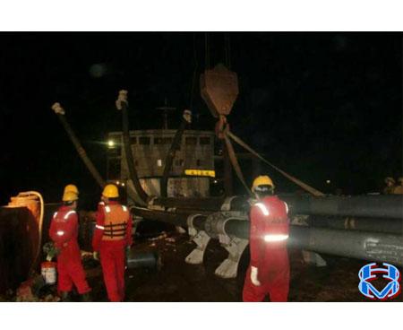 福建风电项目 J 型管下放安装